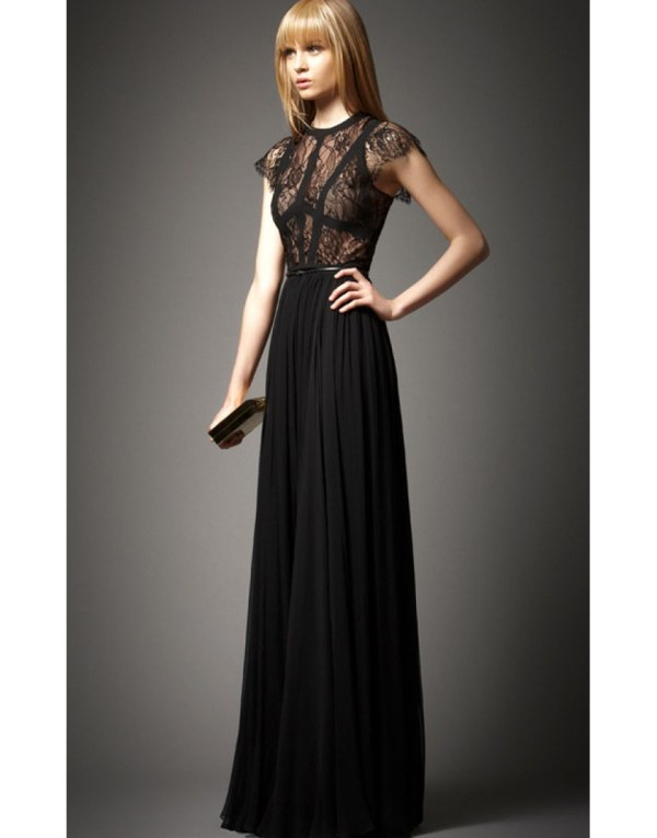 Elie Saab Terra Black Prom Dress 2014