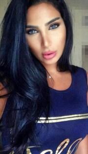 hair accessory bright blue black