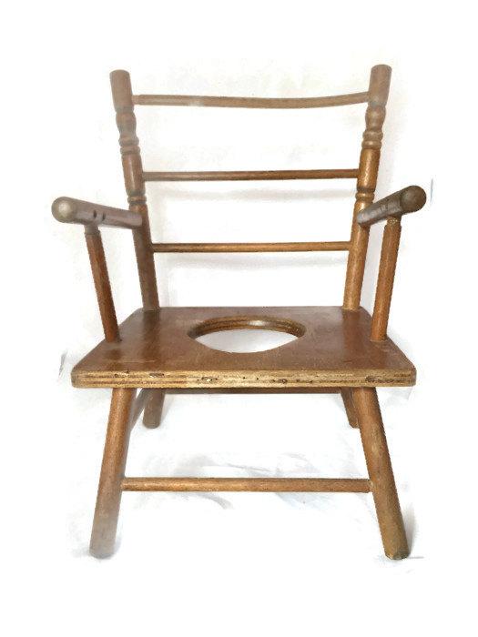 wooden potty chair infant bouncy antique toy high for dolls b0hkt6 i jpg