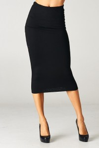 CALF-LENGTH FITTED SKIRT - MS. CEO