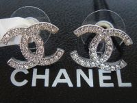 Authentic Brand New Silver Chanel Large CC Logo Crystal ...