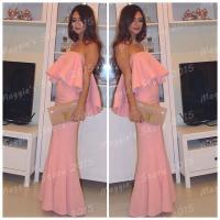 Pregnant Prom Dresses 2015 Hot! Elegant Mermaid Pink Prom ...