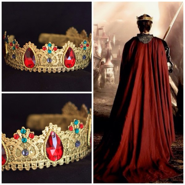 Gold Male Crown King Renaissance Game Of