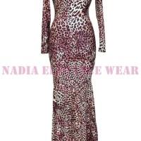 Leopard Print Mermaid Prom Dress