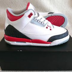 Red Sofas On Sale Modern Design Nike Air Jordan 3 Retro (gs) White Fire Women Boys ...