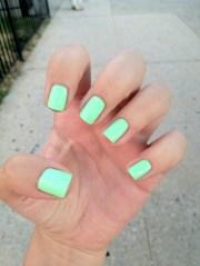 swimwear bright nail polish
