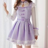 dress, kawaii, cute, bow, bow dress, korean fashion ...