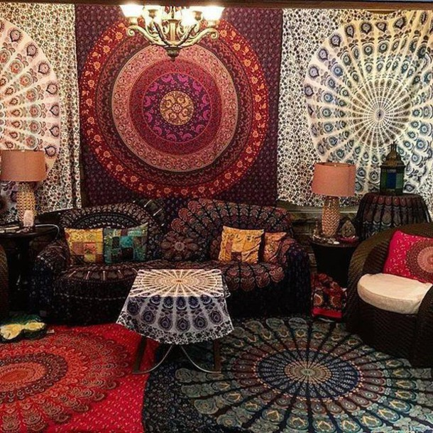 Home Accessory Tapestry Magical Night Star Mandala Tapestry