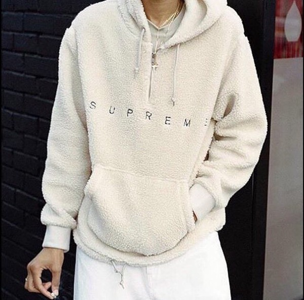 sweater supreme supreme jacket jacket cream supreme