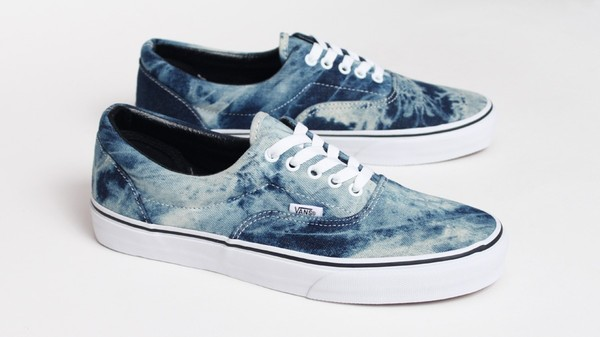 Shoes vans ombre water blue vans vanz denim tie