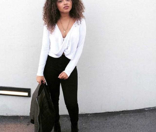 Shirt Long White Dressy Blouse Deep Cut White Blouse White Shirt Long Sleeved Blouse Long Sleeved
