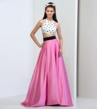 dress, 2 piece prom dresses cheap, 2 piece short prom ...