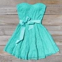 Dress: tiffany blue dress, cute dress, lace bridesmaid ...
