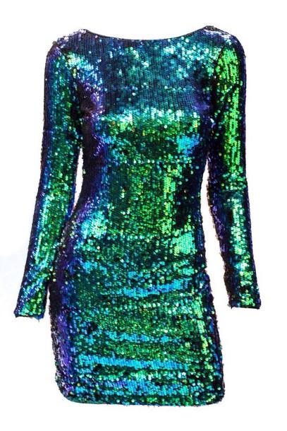 Dress Emerald Green Homecoming Dress Sequin Dress