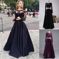 Two Piece Prom Dress Long Sleeve_Prom Dresses_dressesss