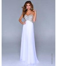 Nina Canacci 2014 Prom Dresses - White Gold Pleated ...