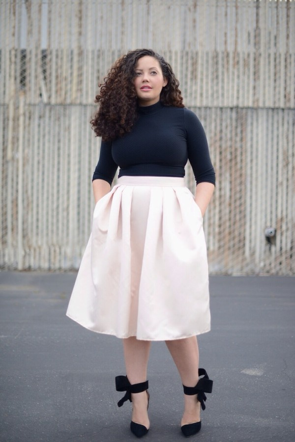 Flared Skirt Plus Size - Skirts