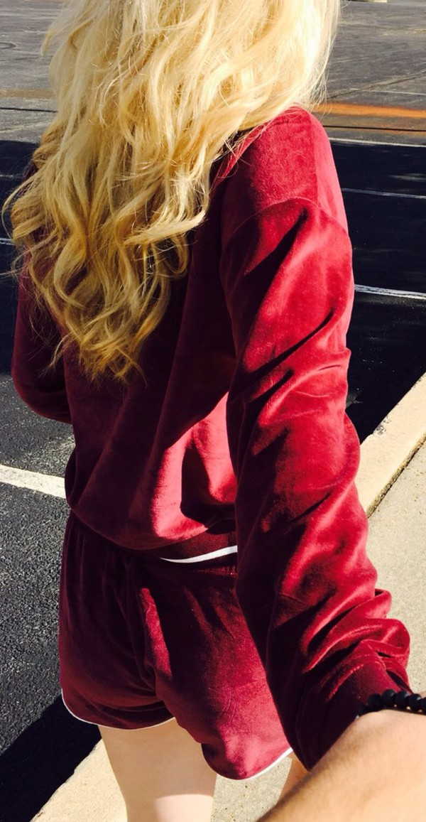 Sweater Matching Set Burgundy Fall Colors Back To