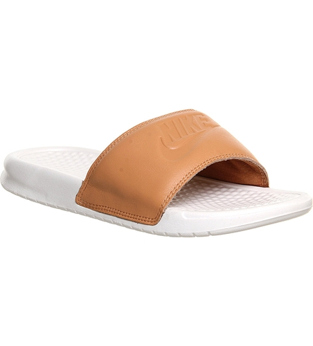 Nike Benassi Pool Slider Sandals White Nuji