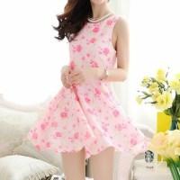 dress, kawaii, cute, pink, girly, pink mini dress, pink ...