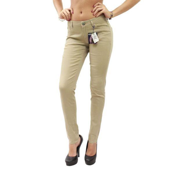 Khaki Beige Skinny 5 Pocket School Uniform Pants