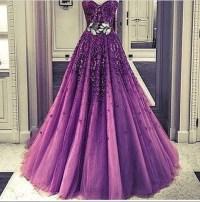 Dress: purple dress, fancy, posh, prom dress, prom dress ...