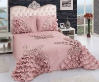 home accessory, dusty pink, ruffle, bedding, bedroom