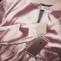 Jacket pink jacket urban pastel pink satin all pink everything