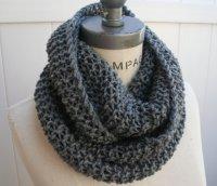 Chain Scarf Grey Knit Infinity Scarf Most Popular Item by ...