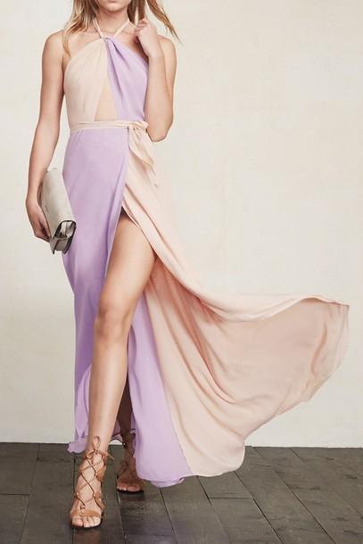 purple apricot halter color