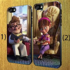 Cheap Leather Chairs Office Chair Video Up Disney Carl And Ellie - Couple Custom Case Iphone Case,samsung Galaxy For ...