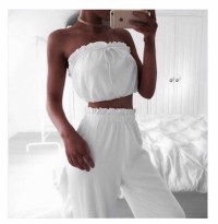 jumpsuit, white, two-piece, tumblr, tumblr outfit, tumblr ...