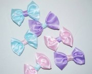 hair accessory pastel blue bows