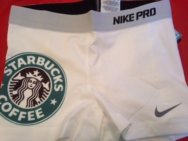 Shorts, White, Nike Pro, Nike, Cheerleading, Cheerleading
