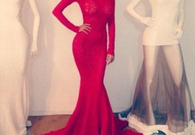 Deep Red Long Prom Dresses