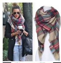Scarf: plaid scarves, fall scarves, winter scarf - Wheretoget