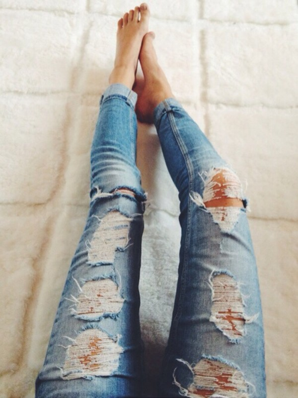 2014 Wholesale Destroyed Sexy Ripped Skinny Jeans Brands For Womengkk203  Buy Skinny Jeans