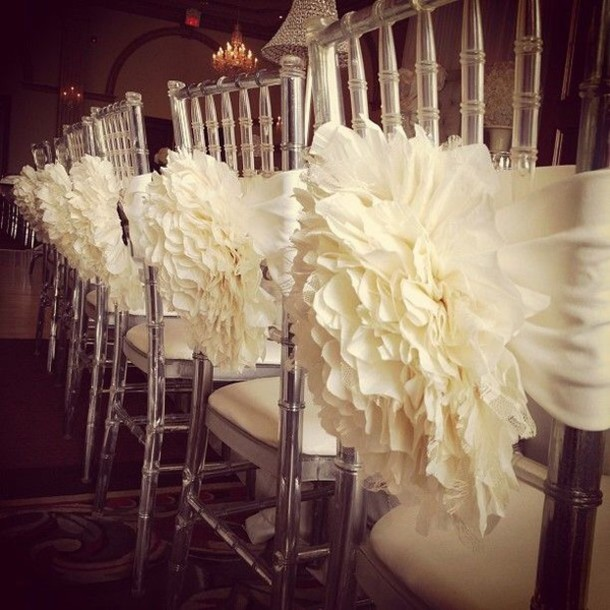 scarf ivory decoration wedding accessories reception diy home decor wedding decor