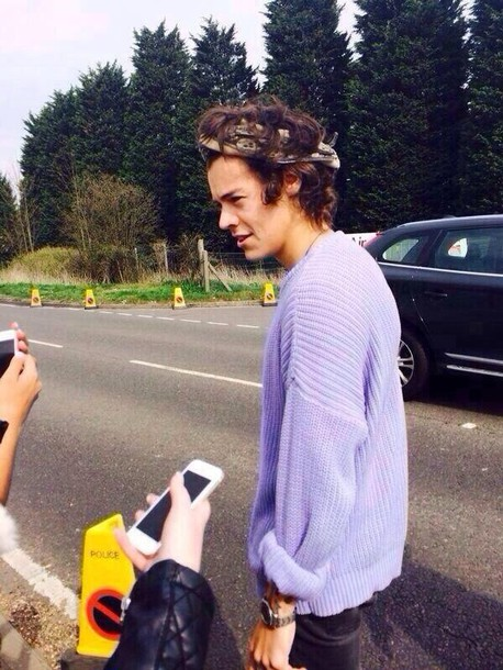 Image result for harry styles purple sweater