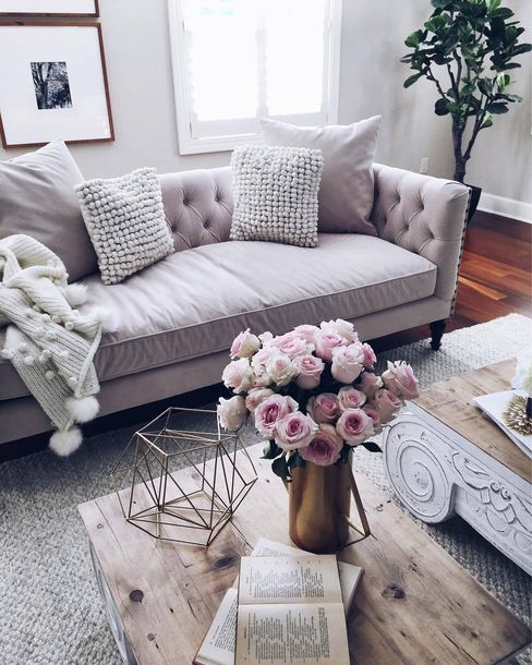 living room flowers photos of colors home accessory sofa tumblr decor furniture table blanket knitted pillow