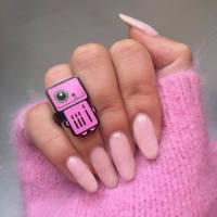 Nail polish: tumblr, nail art, nails, acrylic nails, fake ...