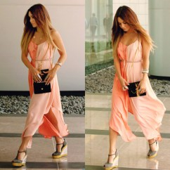 Nice Kitchen Tables Pos Display System Jumpsuit, Vannessa Hudgens, Ombre Hair, Peach Dress ...