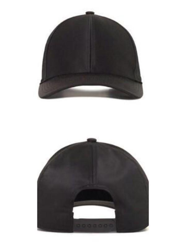 Hat plain black baseball cap snapback  Wheretoget