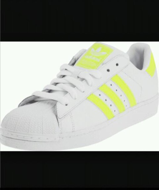 shoes adidas superstar white yellow pharrell williams