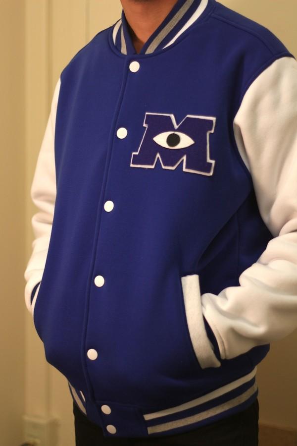 Monsters Inc 2 Varsity Jacket University Mike Sully Adults