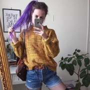 sweater yellow vintage grunge