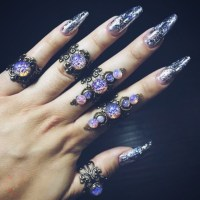 jewels, ring, fantasy, purple, statement ring, halloween ...