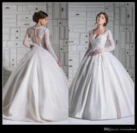2016 Elegant Wedding Dresses Long Sleeve With Lace ...