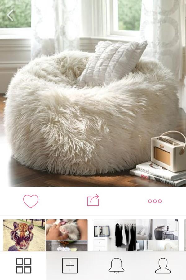classy bean bag chairs fold down high chair furlicious beanbag contemporary by pbteen fluffy wishlist home accessory cozy