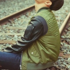 Leather Chairs Target Papasan Chair Double Frame Jacket: Green, Bts Jhope, Green Jacket, Bomber Sleeves - Wheretoget